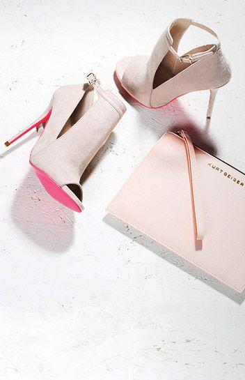 New Arrivals! Carvela 'Glance' cut out sandals with pink sole  #Accessories #IGIGI #IGIGIAdditions