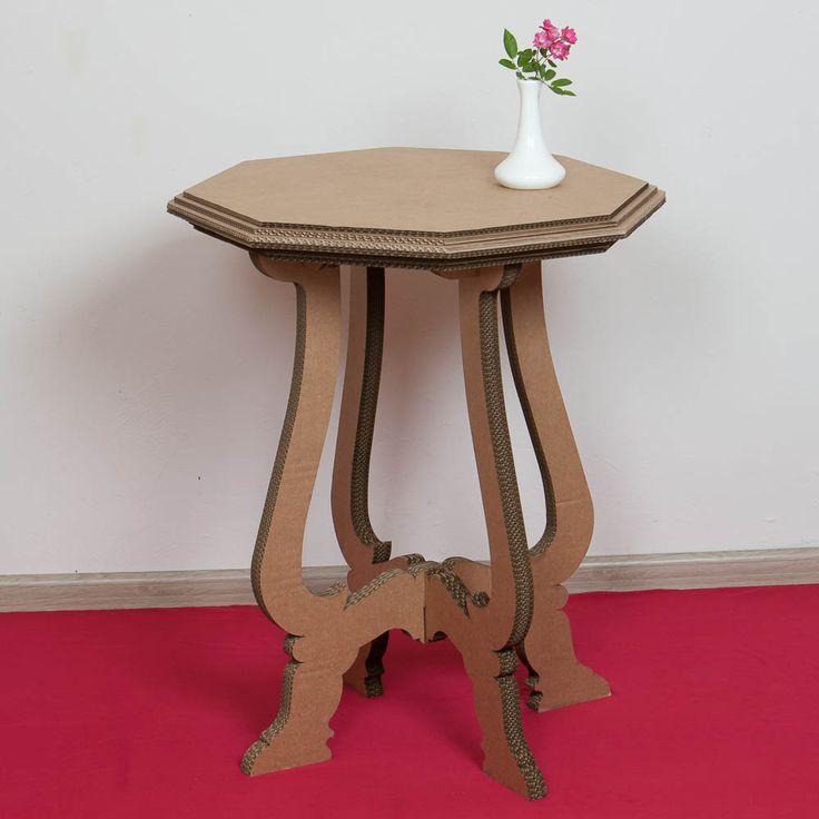 Картонная мебель для дома. Столик из картона для гостиной, картонная мебель для дома и дачи.