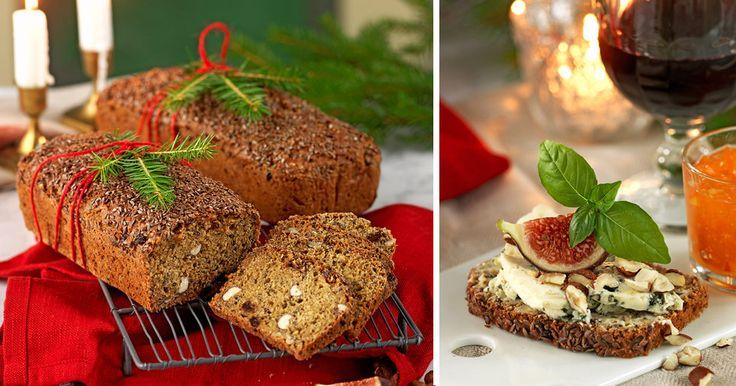 Lättbakat rågbröd med hasselnötter recept