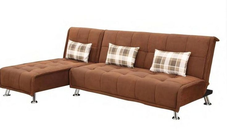 Williams microfiber sofa w chaise living room for Brown microfiber chaise lounge