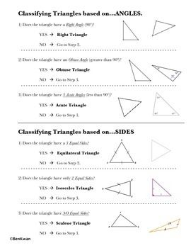 Classifying triangles worksheet grade 4