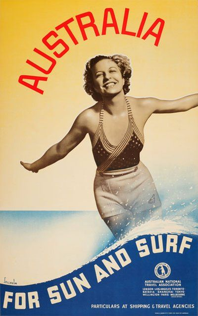 Australia - For Sun And Surf designed by Sellheim, Gert (1901-1970)
