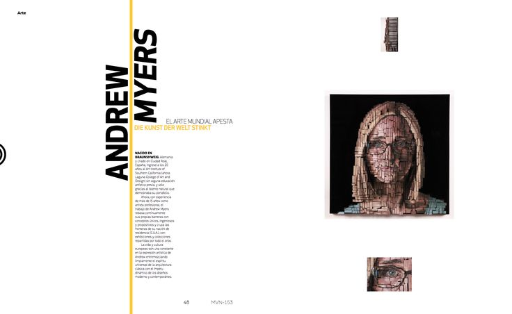 Arte: Andrew Myers  #AndreMyers #MinimalDesign #GermanyDesign #Germany #Minimal #RevistaMarvin #Marvin #ArtDirection #Magazine #EditorialDesign #Editorial #GraphicDesign #Art