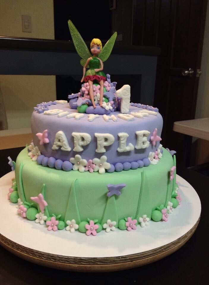 Apple's birthday cake #thinkerbell theme