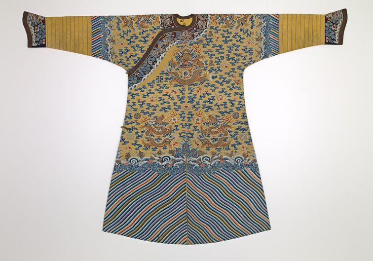 Emperor's semi-formal court robe (Jifu) Chinese, late 19th Century   National Gallery of Victoria, Melbourne