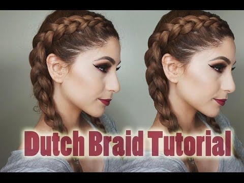 How to Dutch Braid Your Own Hair | Step By Step For Beginners ❥ - YouTube
