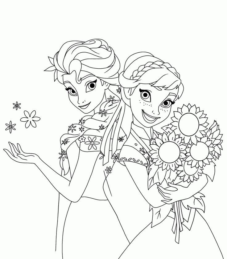 Desenho para colorir Frozen uma febre congelante, para imprimir e pintar. O curta que conta sobre o aniversário de Anna. Elsa e Kristoff fazem uma festa.