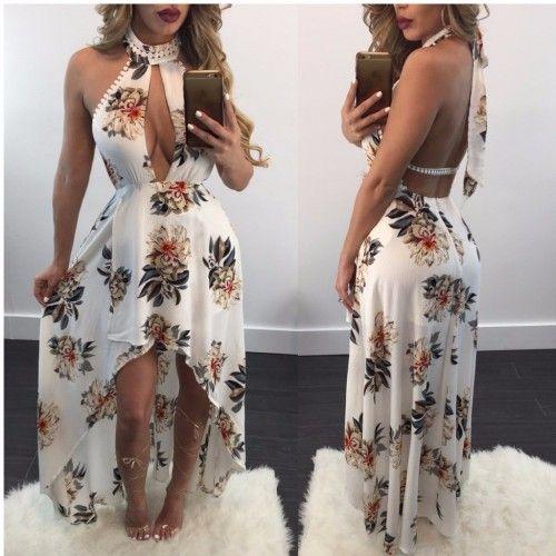 2bf072a2f Vestido Abella Longo Floral Ref 6780 | roupas pra criar de 2019 ...