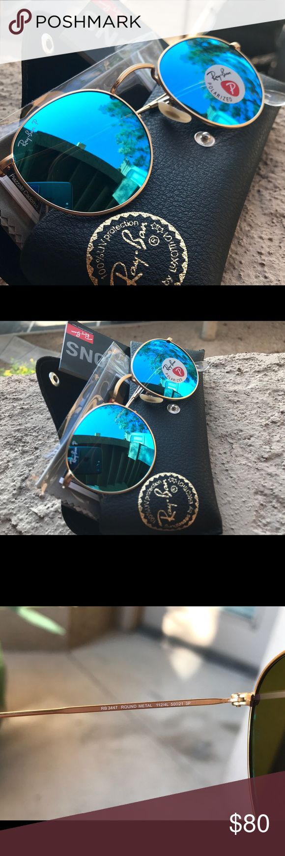New Ray-Ban Round Blue RB 3025 58mm size - brand new - model: RB3025 112/4L Ray-Ban Accessories Sunglasses