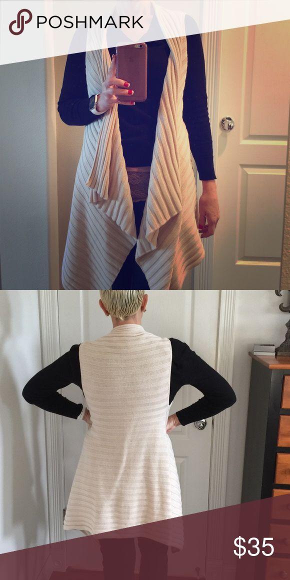 Anne Taylor Loft Sweater Long, cream colored sweater from Anne Taylor Loft. Ann Taylor Sweaters Cardigans