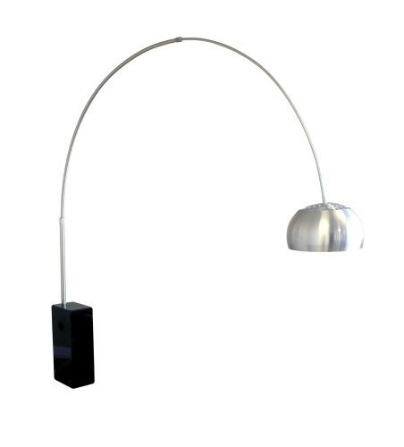 arco black cubeshaped marble base floor lamp by baxton studio http
