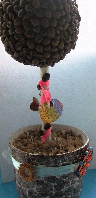 Горшок для цветов с мозаикой из яичной скорлупы, мастер-класс с фото