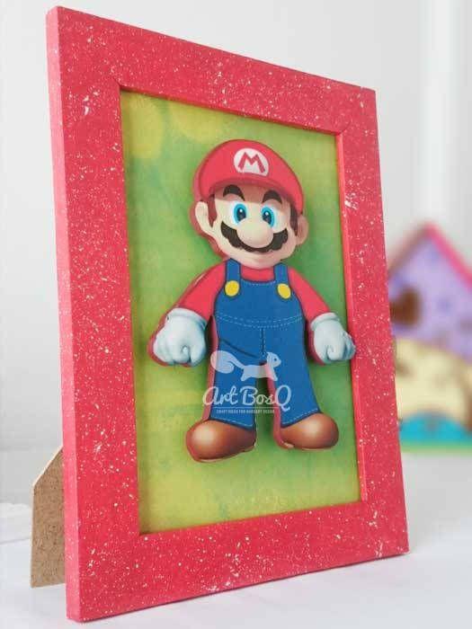 Mario bros frame, super mario, new super mario bros, gift for kids room decor, Newborn, girl, Child, Children, Infant, Baby de Artbosq en Etsy