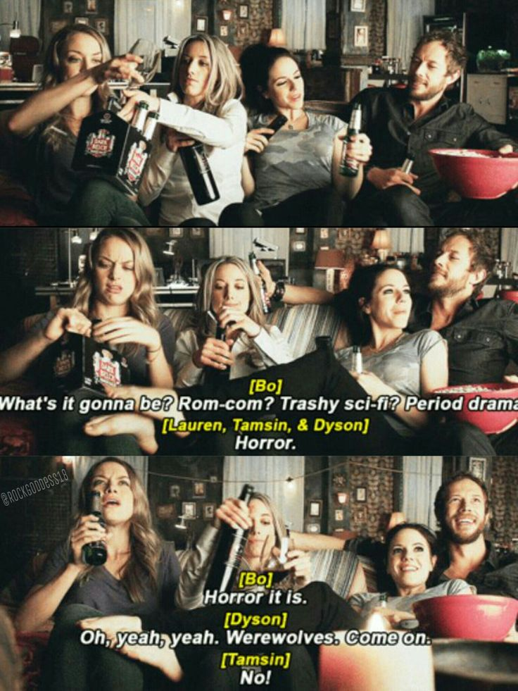 Tamsin, Lauren, Bo, and Dyson hanging out together   Lost Girl