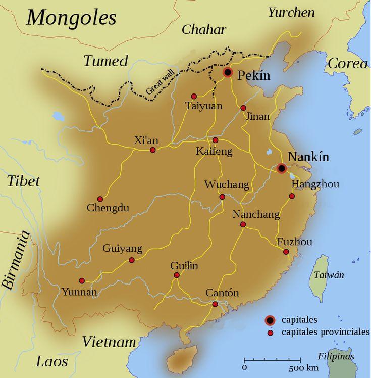 Ubicación de Dinastía ming