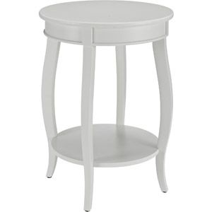 WalMart $77.00 Round Side Table With Shelf, Multiple Colors