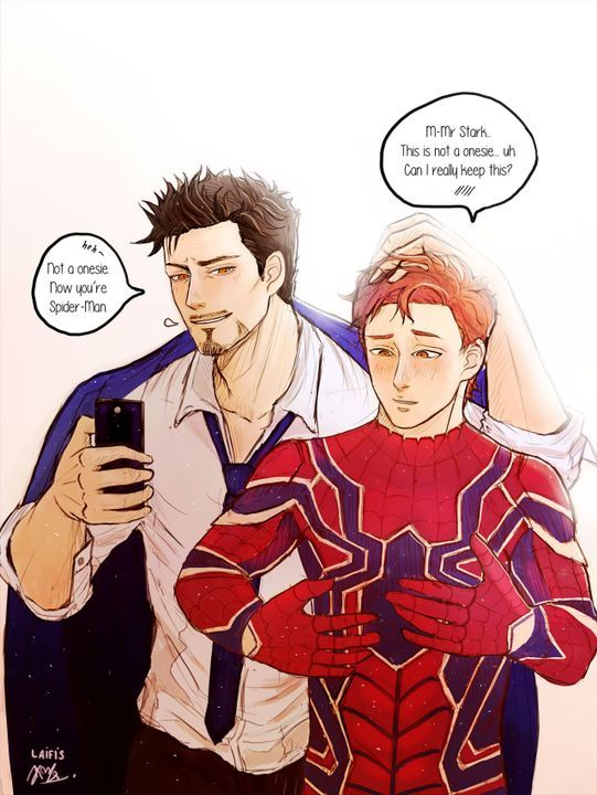 IronDad & Spiderson ~And Stuff~ - Random   Spiderman   Marvel, Tony
