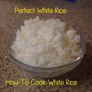 """This pin says """"the perfect white rice"""". It's truly the BEST white rice. I can't make rice for my life and I got it perfect with these directions."""