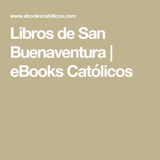Libros de San Buenaventura   eBooks Católicos