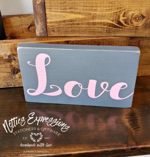 Love 4x8 Rustic Wood Sign