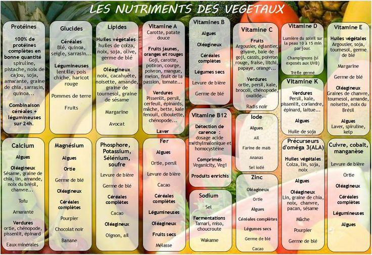 Les nutriments des végétaux