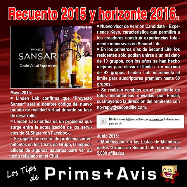 AMM Life & Style: AMM NUM 39 - RECUENTO 2015 Y HORIZONTE 2016 SECOND LIFE 04