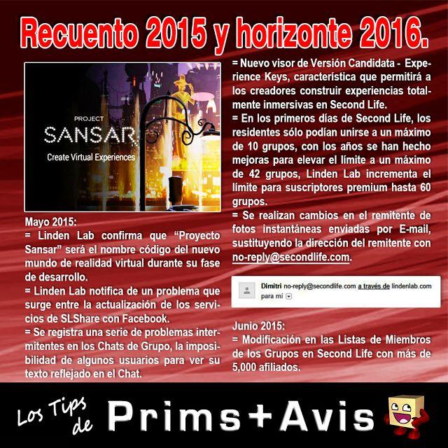 AMM Life & Style: AMM NUM 39 - RECUENTO 2015 Y HORIZONTE 2016 SECOND LIFE 04