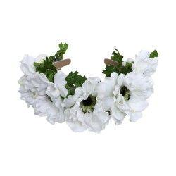 Haarreif mit weissen Blüten von Dirndl Liebe. Zu kaufen bei dresscoded.com.#dresscoded