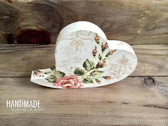 handmade wooden heart decor heart stand 3D heart heart