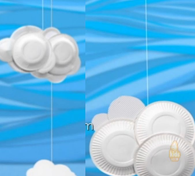 Paper Plate Clouds - from Playschool's end credits.