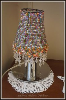 lampshade with beads by MrsEfi