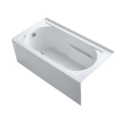 "Kohler Devonshire tub 60"" x 32"" Soaking Bathtub Finish: White"