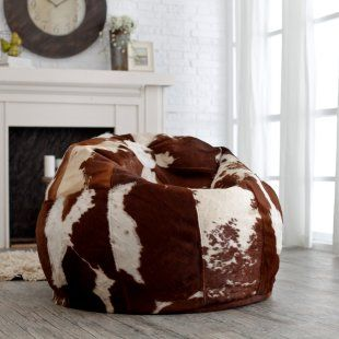 Luxury Leather Bean Bag Chair (grandkids would love to have this in the loft)