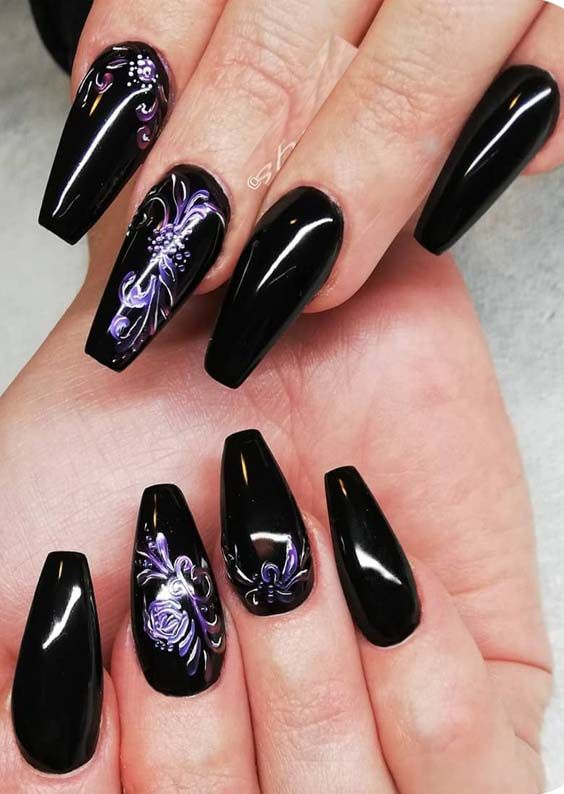 Fantastic Black Nail Art Designs For Women In 2019 Black Nail Art Nail Art Nail Art Design
