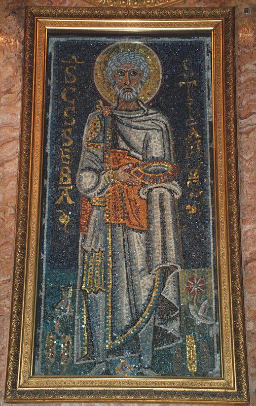 008-св.Себастиан.jpg Византийская  мозаика IX века.
