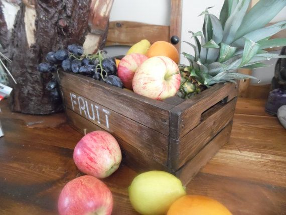 A vintage crate look fruit bowl perfect country chic от Shackadale