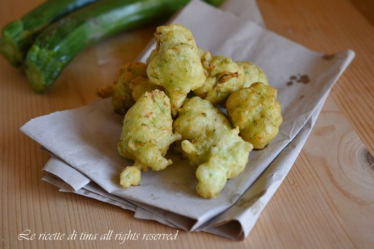 Zeppole con zucchine