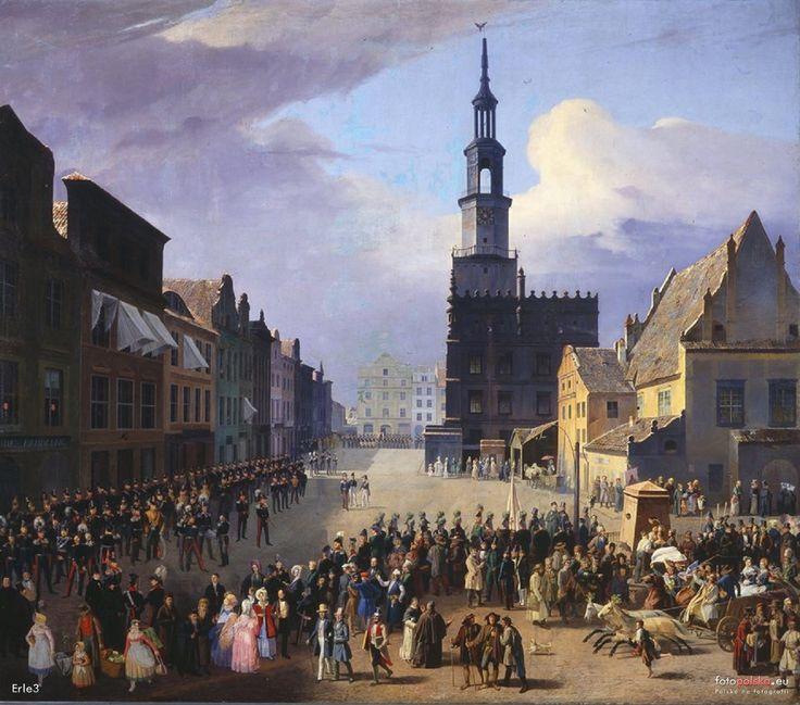 Ratusz, Poznań - 1838 rok, stare zdjęcia