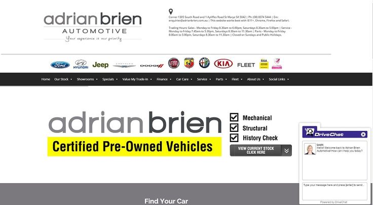 Adrian Brien Automotive Launches New And Improved Dealership Group Website  We are very excited to introduce to you our new and improved dealership group website including an updated fully responsive search engine which allows you to quickly and easily search all of our new, demonstrator and pre-owned vehicles currently in stock.  Click here to learn more... http://adrianbriencars.com.au/blog/5439/adrian-brien-automotive-launches-new-and-improved-dealership-group-website/