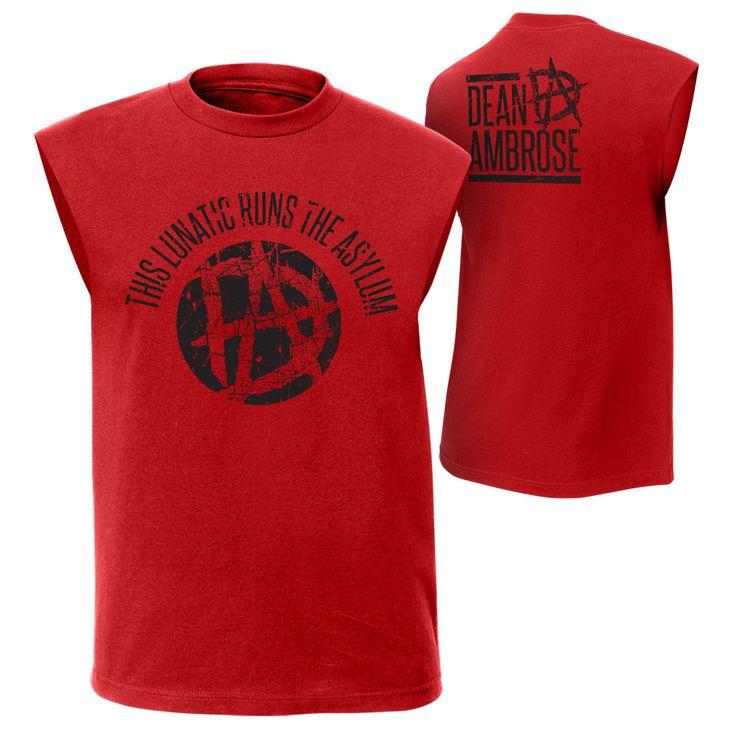 "Dean Ambrose ""This Lunatic Runs the Asylum"" Muscle T-Shirt - WWE US"