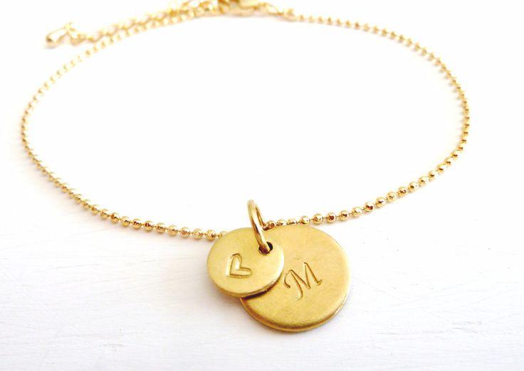 Namensarmbänder - Armband // Gravur 2 Plaketten // vergoldet - ein Designerstück von fraeuleinfrida-schmuckmanufaktur bei DaWanda