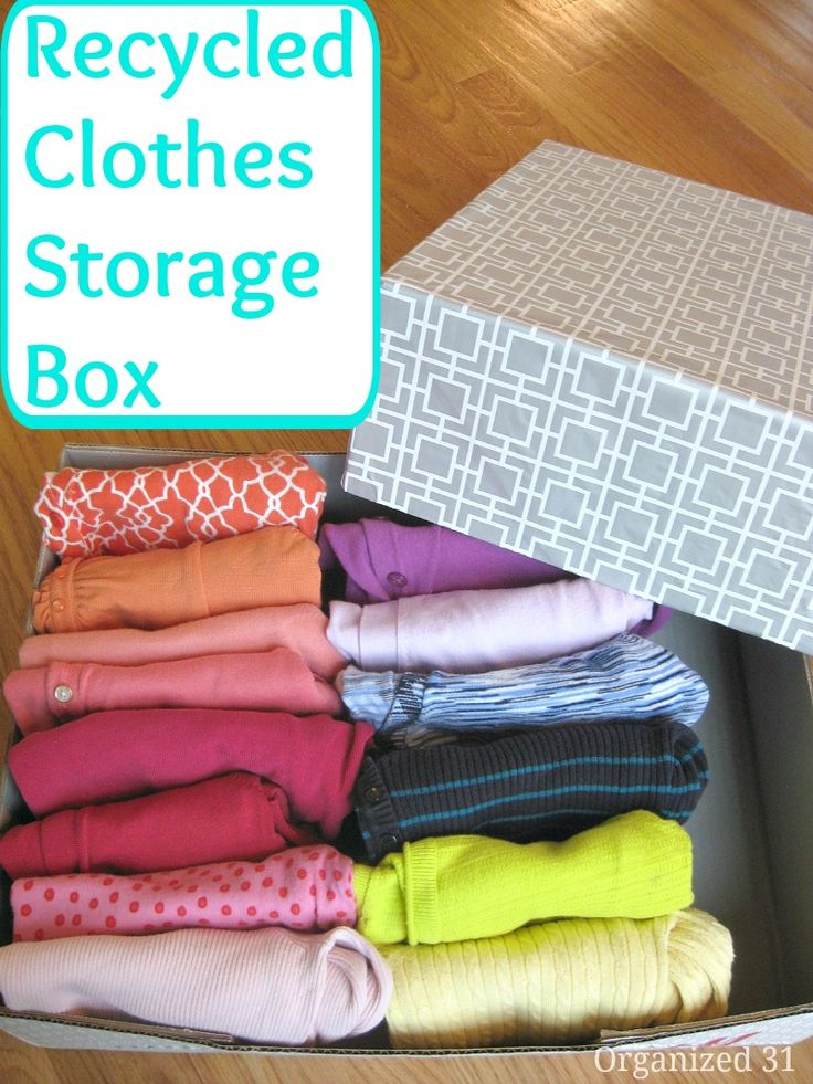 DIY Clothes Storage Box - Organized 31