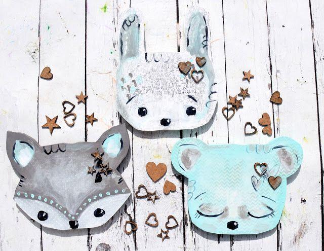 Stonogi.pl - blog sklepowy: Zwierzakowe głowy- czyli ozdoby do dziecinnego pokoju:) Animal heads as home decor for childrens' room.