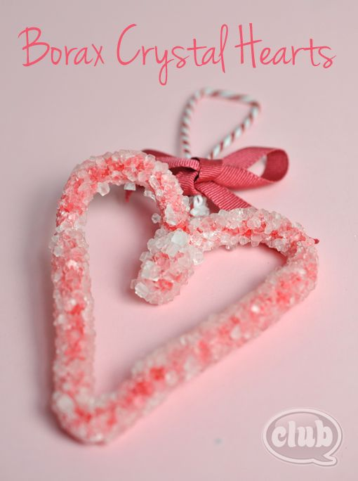 Red Borax Crystal heart craft
