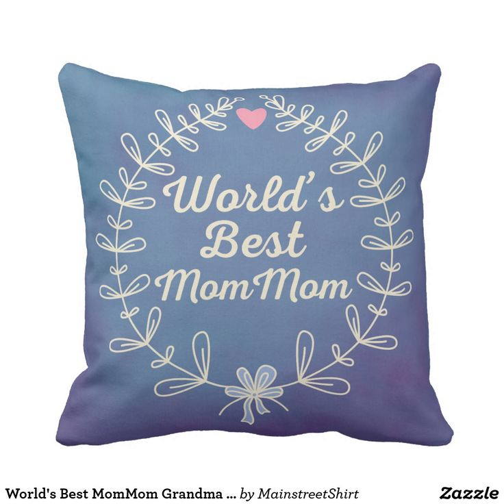 World's Best MomMom Grandma Wreath Pillow