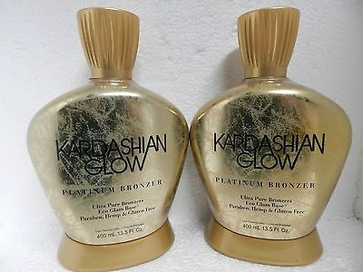 awesome 2 LOT KARDASHIAN GLOW PLATINUM BRONZER BRONZING INDOOR TANNING BED TAN LOTION - For Sale Check more at http://shipperscentral.com/wp/product/2-lot-kardashian-glow-platinum-bronzer-bronzing-indoor-tanning-bed-tan-lotion-for-sale-2/