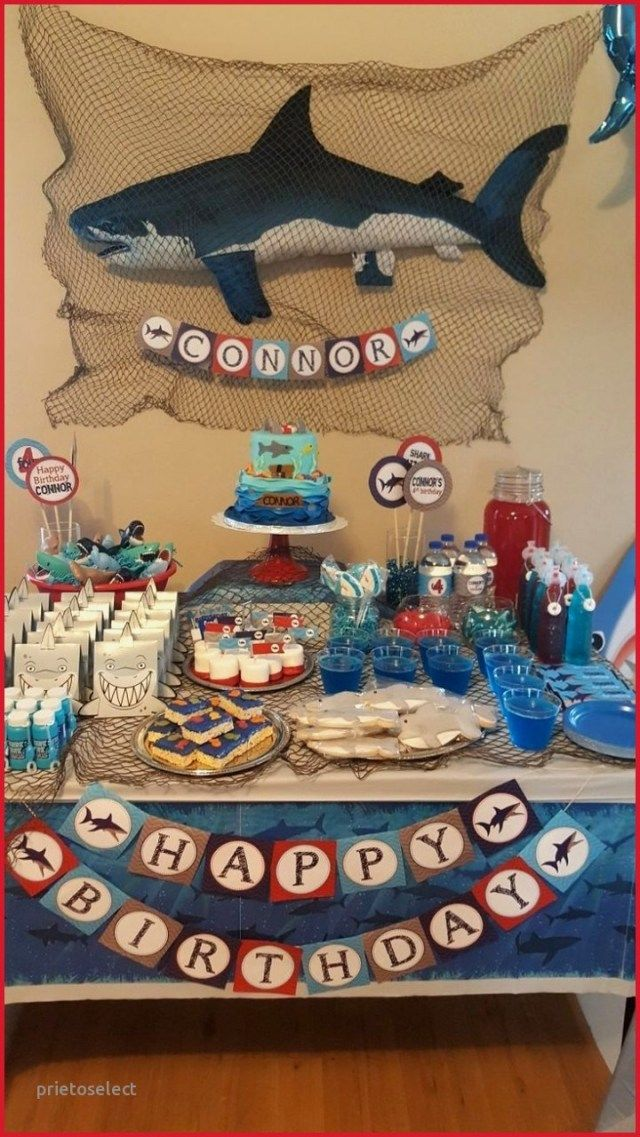 32 Creative Image Of 14 Year Old Birthday Cake Entitlementtrap Com Shark Theme Birthday Shark Themed Birthday Party Boy Birthday Parties