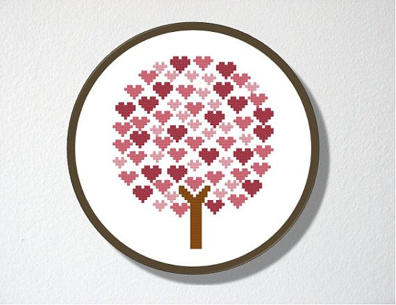 Counted Cross stitch Pattern PDF Tree of by CharlotteAlexander, $4.00