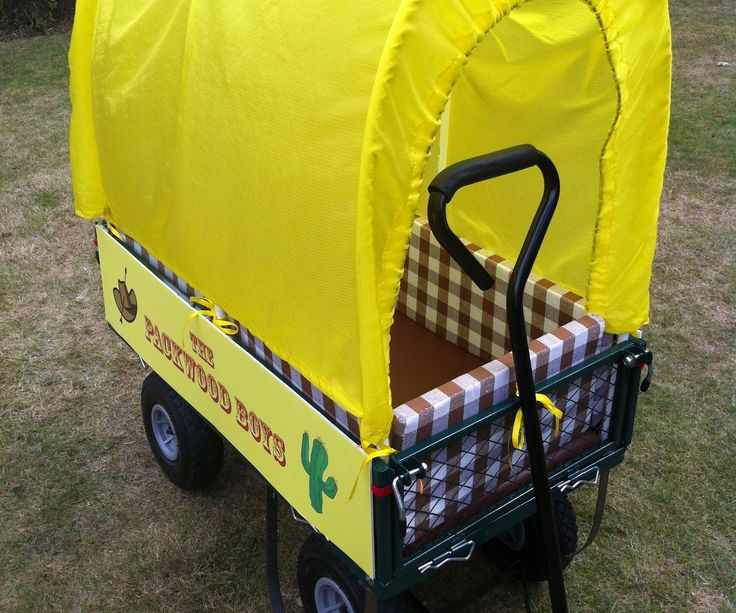 This Instructable turns a plain gardening cart into a kids' Covered Wagon. As well as for cowgirl/boy play, this comes in handy at festivals for transporting sleepy kids.