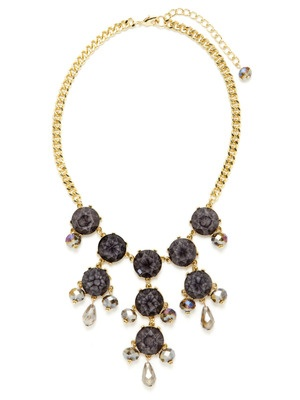 Leslie Danzis Multi-Cut Crystal & Glass Bib Necklace